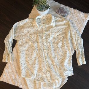 Madewell Star Print Trapeze Button Down Shirt